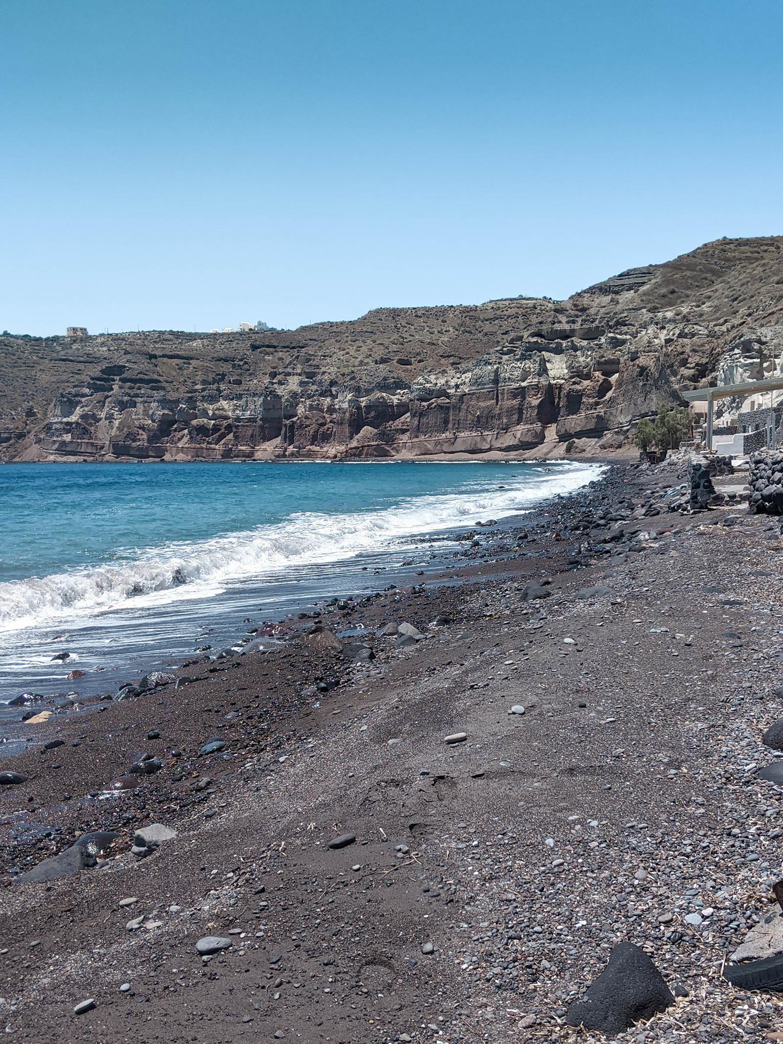 Schwarzer Strand Santorin